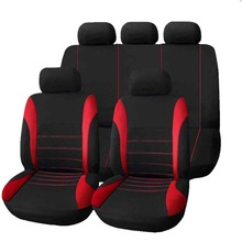 9 piece set of foreign trade four seasons universal seat cover cushion car fur seat covers set universa women cushion chair red