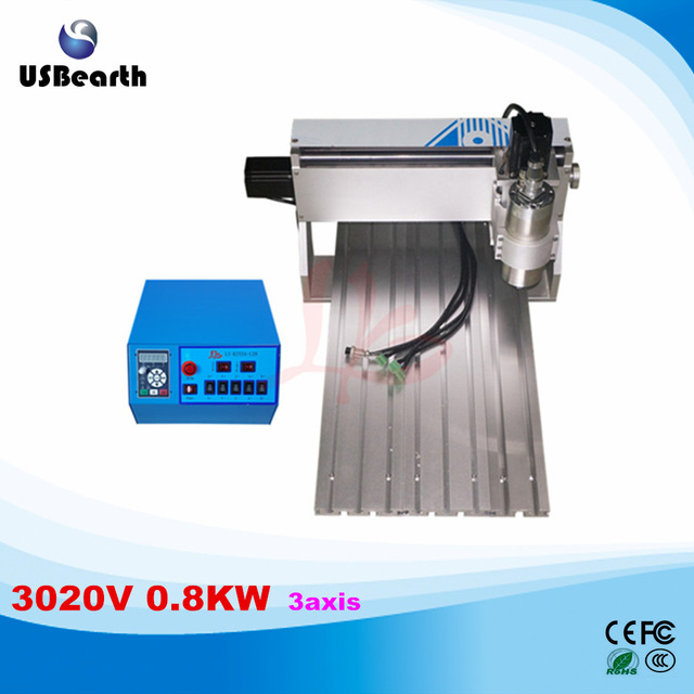 цена на Russia tax free 3020 cnc milling machine 800w water cooled spindle Ball Screw 3 axis pcb cnc engraving machine 110v/220v