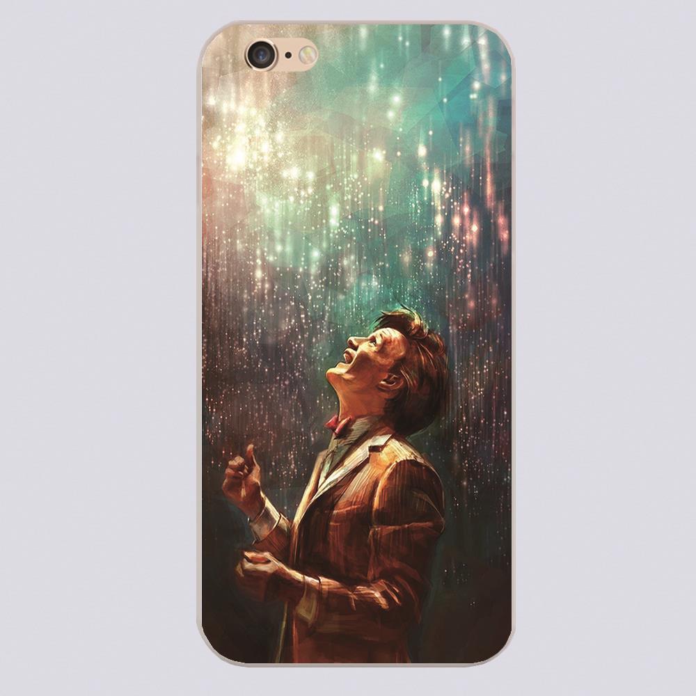 DOCTOR WHO ART HOLMES TARDIS SHERLOCK Design black skin phone cover cases for iphone 4 5 5c 5s 6 6s 6plus Hard Shell