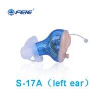 Перезаряжаемые Невидимый Выполните в ухо цифровой слуховой аппарат 8 каналов 12 диапазоны USB Перезаряжаемые CIC слуховые аппараты Dropshipp S 17A