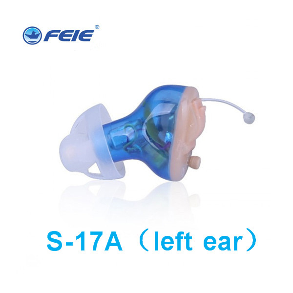 Rechargeable Invisible Complete In Ear Digital Hearing Aid 8 channels 12 bands USB Rechargeable CIC Hearing Aids Dropshipp S-17A e33 rechargeable digital hearing aid 2 channels