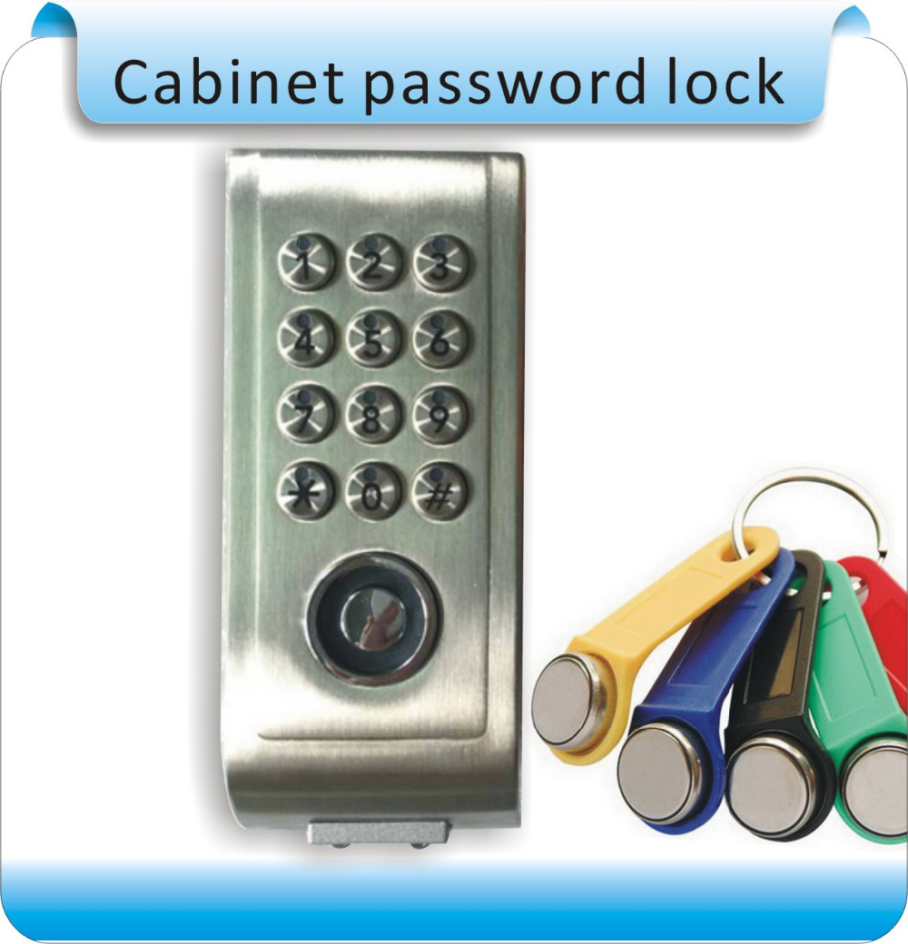 Metal sheel  Keypad Password TM Card Key Metal Digital Electronic Cabinet locker lock+2pcs TM keyfobs ospon digital keypad door lock with backup round key locker electronic entry by password code combination password key os7717