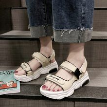Shoes Women Platform Sandals Female Summer New Casual Shoes Comfortable and Soft Buckle Open Toe Wedge Sandals High-heeled Shoes gtime sandals 2017 summer women sandals wedge female sandals high platform wedges platform open toe platform casual shoes zws246