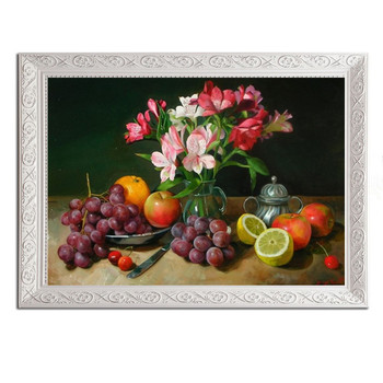 Needlework,DIY DMC Cross stitch,floral painting Sets For Embroidery kit 14ctunprinted cotton thread flower and fruit pattern27