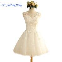 In Stock New White Short Wedding Dress Brides Beautiful Lace Wedding Dress Bridal Gown Vestido De