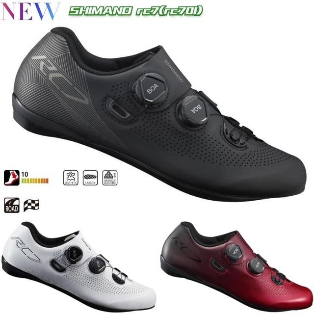 f97ce93a7 2019 nuevo Shimano SH RC701 zapatos de carretera de ventilación de carretera  de carbono zapatos SH