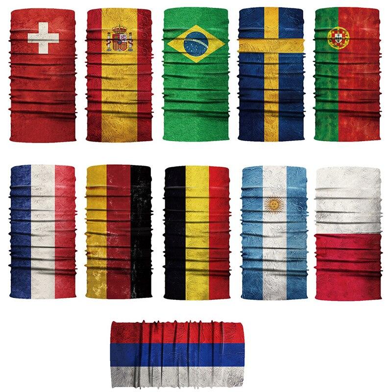 outdoor sports riding mountaineering printing flag turban magic seamless mask sweatband Outdoor riding mask flag