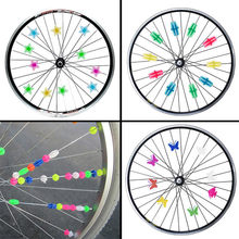 24 Pcs/36 Pcs Bicycle Wheel Spoke Colorful Plastic Bead Multi-color Children Clip Decoration Bicycle Cycling Accessories #45(China)