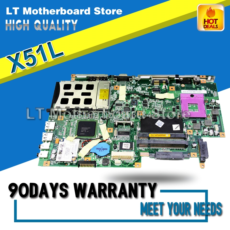 For ASUS X51L X58L X571LE REV:2.1 08G2005XB21Q Laptop Motherboard System Board Main Board Mainboard Card Logic Board Tested Well d05021b maine board fittings of a machine tested well original