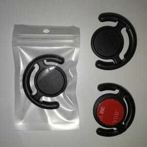 Image 1 - 100 Uds. De alta calidad Universal para la pared del coche soporte para teléfono de oficina gancho de montaje 3M pegamento para teléfono móvil con bolsa de Opp