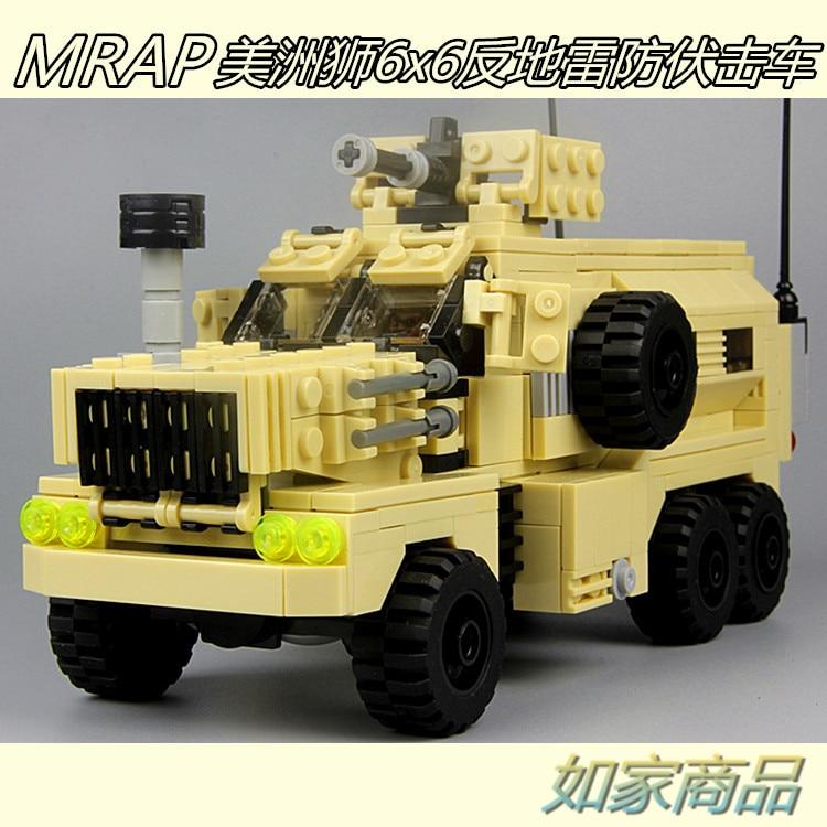 ФОТО MOC 484pcs MARP Cougar Mine Resistant Ambush Protected SWAT Police Falcon Commandos Marine minifig Building Blocks Toys Gift
