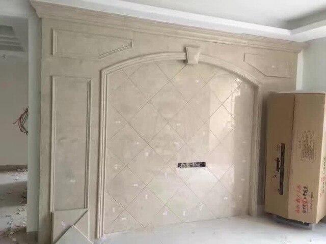 Grune Marmorplatte Eingerichtete Badezimmer Wand Designer Design