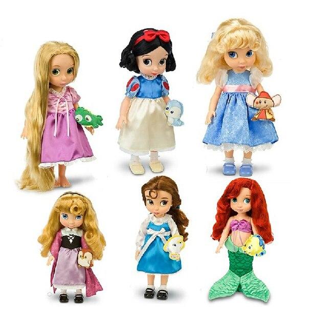 Envío gratis Authentic 40 cm blancanieves cenicienta Belle Rapunzel ...