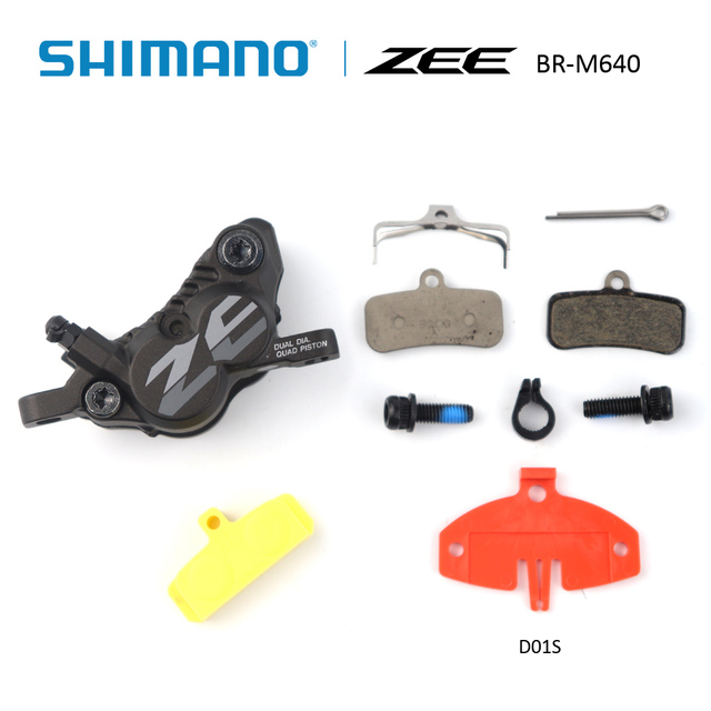 11bf4ac17d6 SHIMANO ZEE BR-M640 BL-M640 Brake Lever bicycle Hydraulic Disc Brake With  Brake pads D01S Resin or H03C Metal