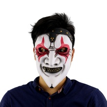 Halloween Mask Scary Clown Latex Full Face Mask Big Mouth Red Hair Nose Cosplay Horror masquerade mask Ghost Party