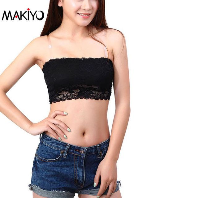 49edd2b86757 MAKIYO Hot Sexy Women Lace Tube Bra