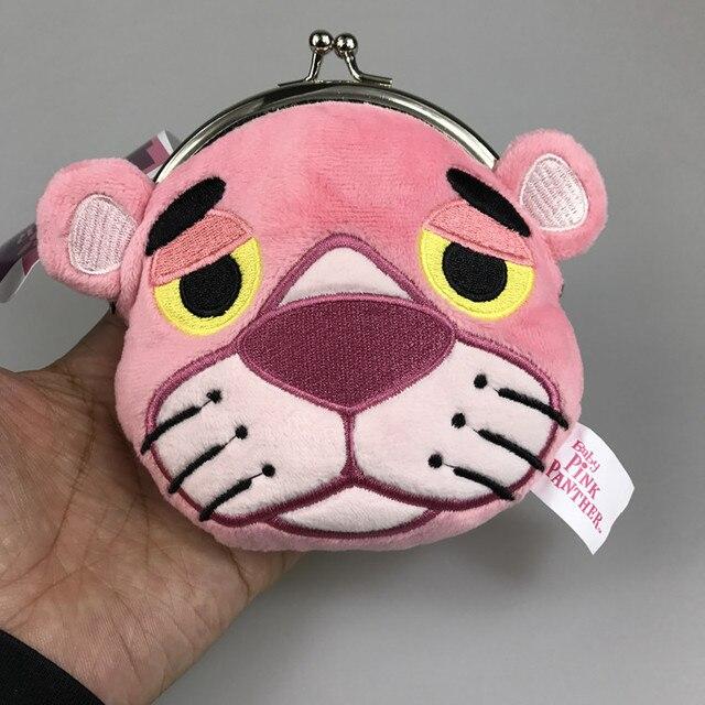 5856dd819b247 Nowy Cartoon Kreatywny Śmieszne Monety Portfel 3D Kawaii Różowy Panther  Worek Monet Portmonetki Tiger Pluszowe Zabawki