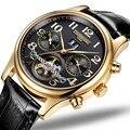 Роскошные деловые автоматические часы CARNIVAL  механические часы Tourbillon с месяцем  неделей  календарем и дисплеем