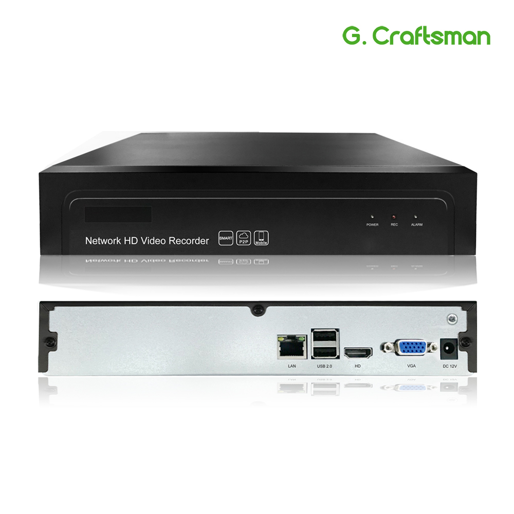 G.Ccraftsman 16ch 5MP H.265 NVR Network Video Recorder 1 HDD 24/7 Recording IP Camera Onvif 2.6 P2P Security System AEeye