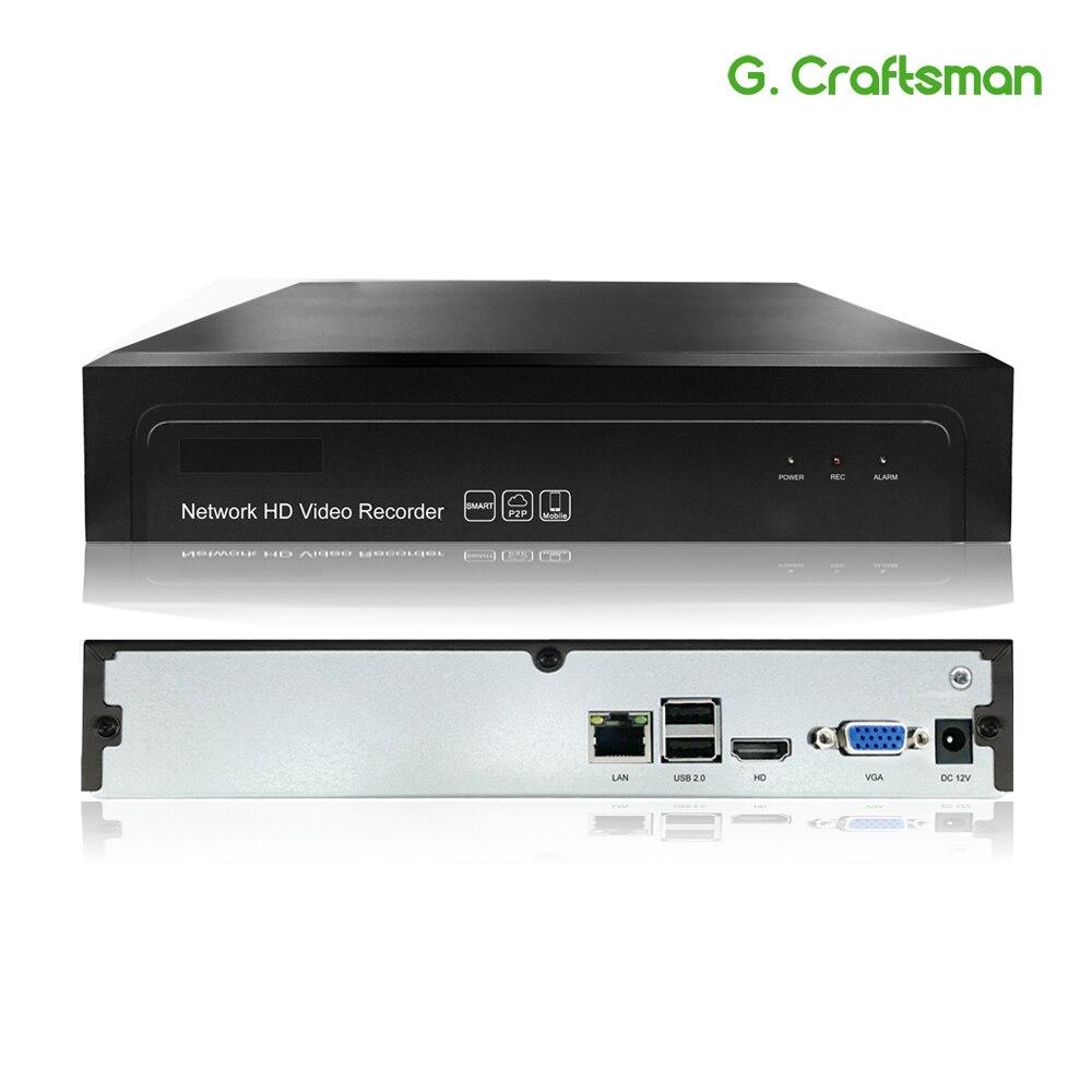 G ccraftsman 16ch 5MP H.265 NVR grabadora de Video en Red 1 HDD 24/7 grabación cámara IP Onvif 2,6 P2P sistema de seguridad AEeye