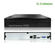 G. ccraftsman 16ch 5mp h.265 nvr rede gravador de vídeo 1 hdd 24/7 gravação câmera ip onvif 2.6 p2p sistema segurança aeeye