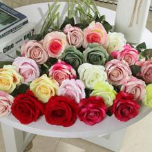 Klonca Luxury Romantic Silk Flower 50cm 1pc Velvet Rose Artificial Home Decoration Hotel Wedding Decor