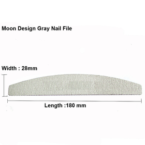 Image 2 - 50Pcs 100/180 Nail Art Sanding Sandpaper Nail Washable Nail File Semilune Banana Buffing Curved Professional Manicure Tools Set