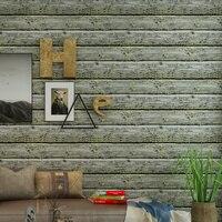 American Village retro nostálgico no tejidos rayas papel de pared de madera ropa Hotel salón café TV telón Fondos de pantalla sala