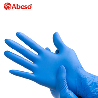 ABESO NBR Latex Durable Disposable Gloves For Food Home Cleaning Acid Alkali Resistance Antiskid 100 Pcs