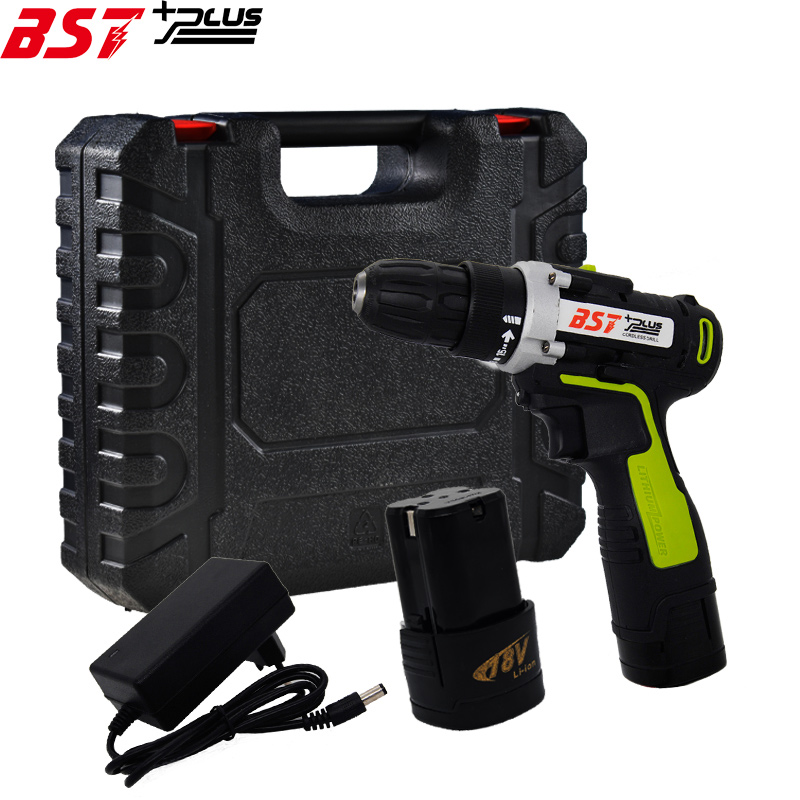 BST+PLUS(SIXTH STYLE)18V LITHIUM-ION BATTERY CORDLESS ELECTRIC HAND DRILL HOLE ELECTRIC SCREWDRIVER DRIVER WRENCH POWER TOOLS 18v dc lithium ion battery cordless drill driver power tools screwdriver electric drill with battery included