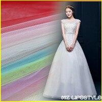 America Hard White Tulle Mesh Cloth Wedding Dress Cloth Doll Dress Skirt Yarn Cloth Fabric