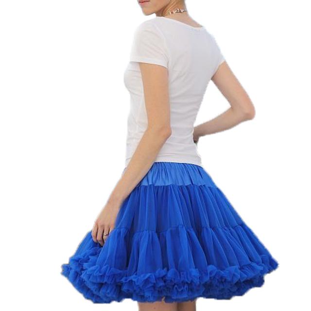Envío Gratis Para Mujer Falda Mullidas Pettiskirts de La Gasa faldas del tutú de la Princesa de las muchachas de Partido de La Falda Para la Señora adulta falda de tul