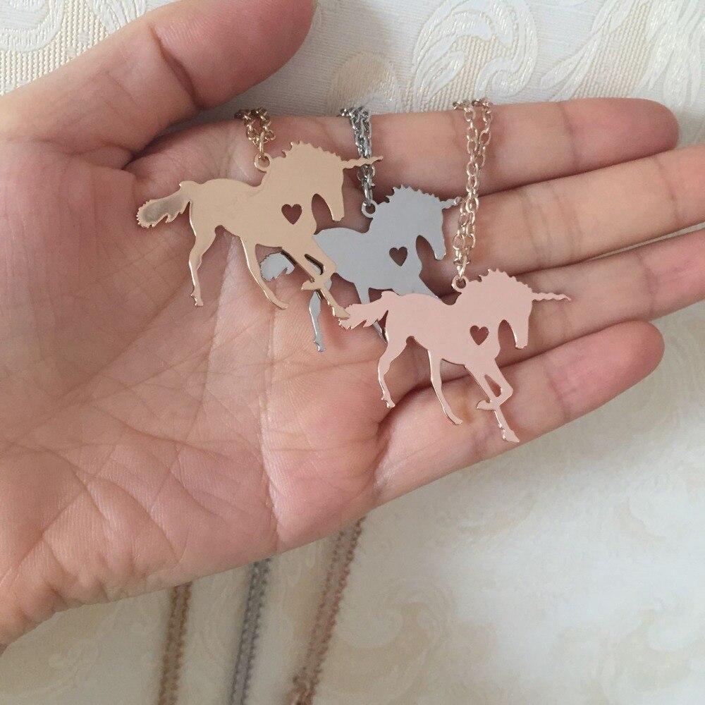 Licorne Cheval unicornio Collier Magique Licorne Bijoux Graver Nom/Lettres Livraison Meilleur Cadeau pour les Filles Drop Shipping YP6080