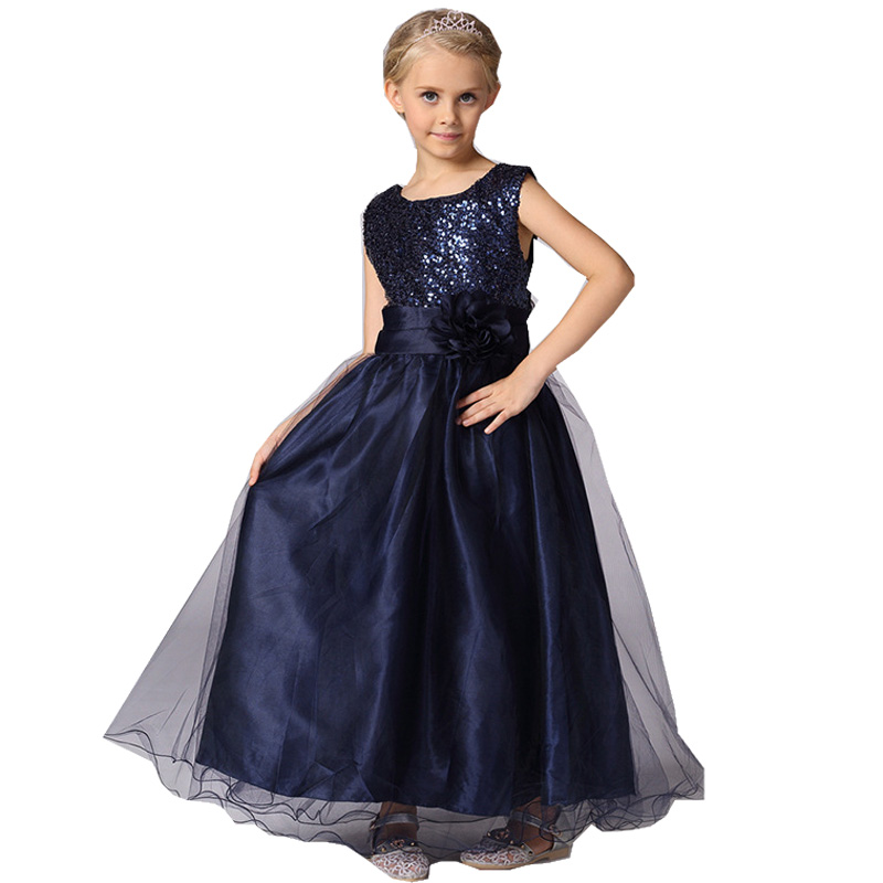 Подробнее о Fashion Long Sequin Flower Girl Dress For Party Birthday Wedding Princess Baby Girls Clothes Children Kids Dresses 3-12 yrs 53 children costumes for girls sweet princess dress baby girl school dresses for birthday party long sleeved bow girl kids clothes
