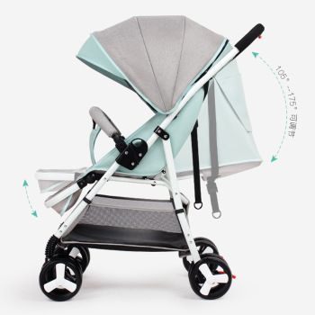 High View Baby Stroller Portable Can Sit Lie Flat Folding Baby Cart Newborn Baby Carriage Portable Travel Four Wheels Stroller 1