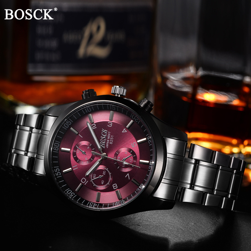 BOSCK Top Luxury Brand Watch Män Casual Brand Klockor Man Quartz - Herrklockor - Foto 3