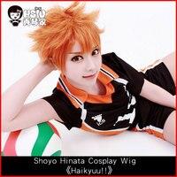 HSIU Anime Haikyuu Shoyo Hinata Cosplay Wig Short Orange Costume Play Wigs Halloween Costumes Hair