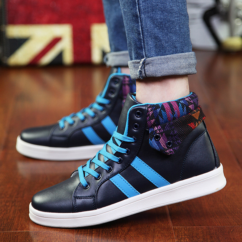 Men s high top BBOY hip hop shoes sneakers Elevator ankle boots Exo same Velcro  platform shoes for men SDFF13-in Men s Casual Shoes from Shoes on ... 4b3efedcd