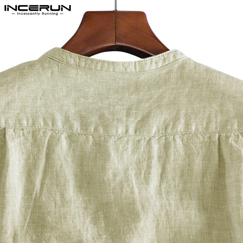Incerun marca de moda camisa masculina manga