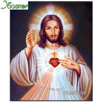 YOGOTOP Square Drill DIY Diamond Painting Cross Stitch Needlework 5D Diamond Embroidery Religious Jesus Pattern Home
