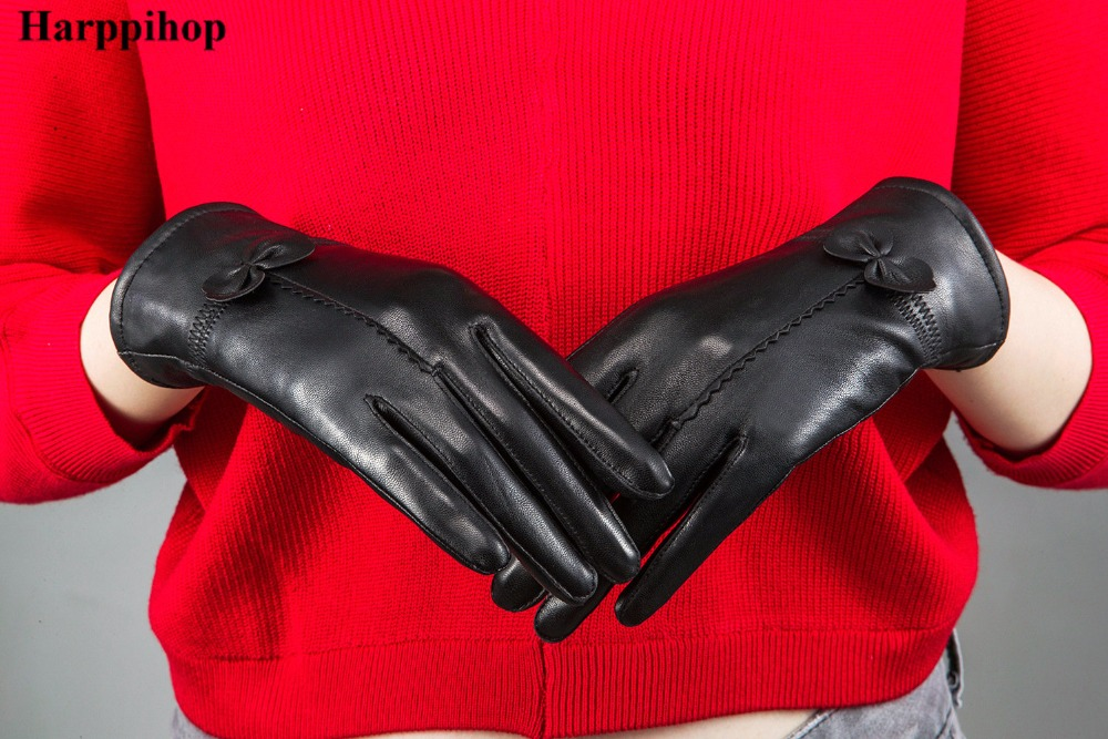 HTB1yDIZPXXXXXaeaXXXq6xXFXXXL - women's genuine leather gloves red sheepskin gloves autumn and winter fashion female windproof gloves
