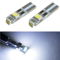 20pcs/pack Car Interior Lamps Miumiu Car Lights White 6000K 58 70 73 74 T5 Dashboard Gauge 3 1210 SMD LED Wedge Light