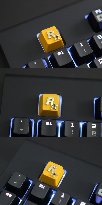 Keycap gravado personalizado da liga de zinco