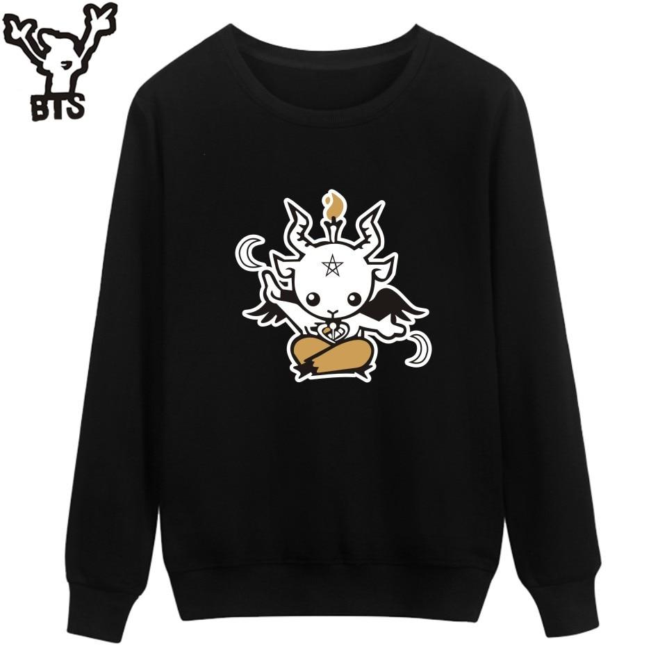 Self-Conscious Satan Print Sweatshirt Men Hoodies Fashion Hoodie Mens Hip Hop Autumn Mens Hoodies And Sweatshirts Hip Hop Black Clothes Fine Workmanship Hoodies & Sweatshirts