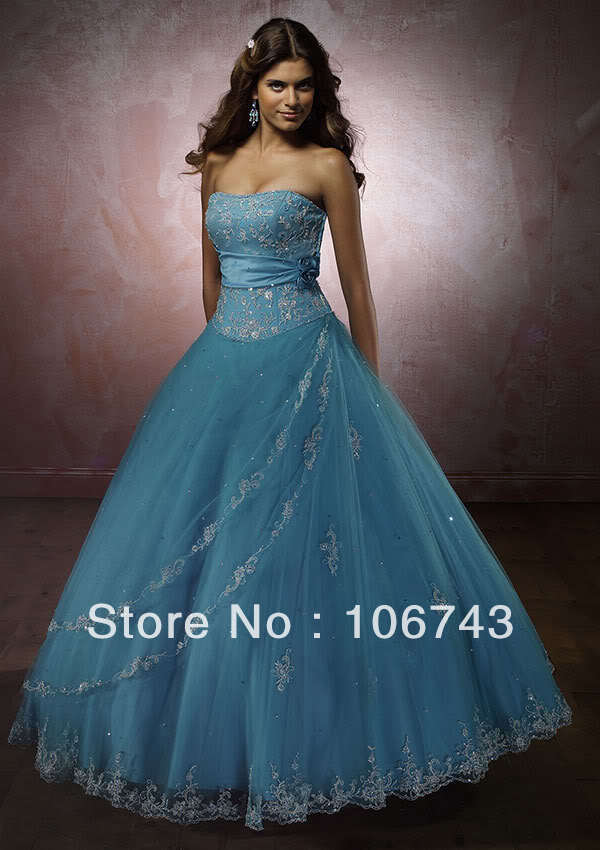 blue tulle sweetheart beading free shipping 2019 new Embroidery Bride Prom Quinceanera with Jacket ball gown   bridesmaid     dresses