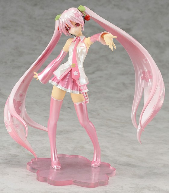 16cm pink Hatsune Miku Anime Collectible Action Figure PVC toys for christmas gift with retail box