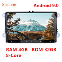 Seicane 2DIN Android 9.0 GPS Multimedia Player Car Radio for VW Golf Polo Passat Touran T5 Cupra Seat Toledo Leon Skoda Octavia