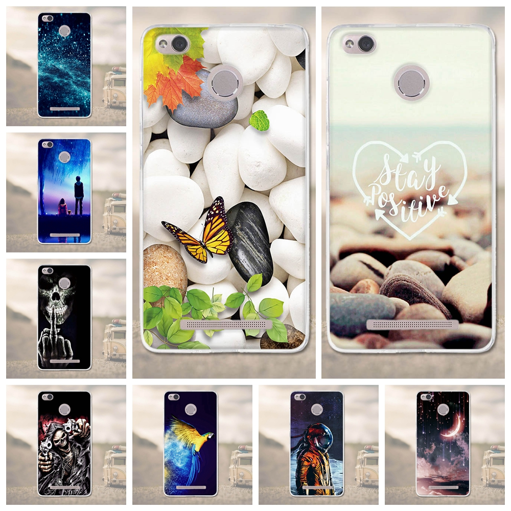 For Xiaomi Redmi 3S 3pro 3 S s Case Landscape Painted Soft Silicone Cover For Xiaomi Red Mi 3S 3 Pro 3 S Prime Phone Cases Coque