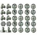 Retail 1Pcs Beyblade Parts Kit Metal Face Bolt Performance Alloy Gyro fighting accessories 20 pcs / tip + 10 pcs / 4D screw head
