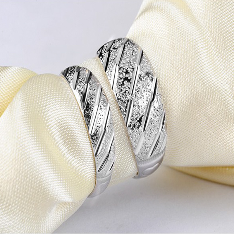 S925 Sterling Silver Couple Female Ring New Fashion Meteor Shower Shape Design Men and Women Universal Ring Anniversary Gift